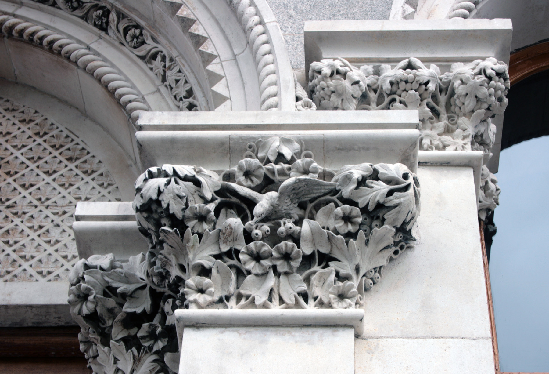 Carved capitals museum building trinity college built